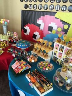 Awesome PacMan birthday party! See more party planning ideas at CatchMyParty.com!