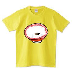 そこには何かいるモン!? in ラーメンどんぶり Illustrated by ショウタロー #Tシャツ #tshirts #イラスト #デザイン #ラーメン #ramen