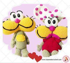 Gaturro y Ágatha La pareja de historietas más cocida #Diy #Crochet #Amigurumi