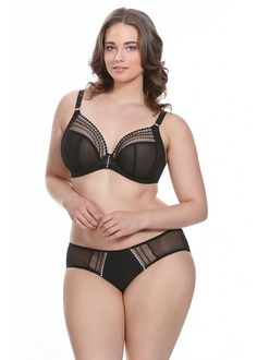 Elomi Matilda Plunge Plus Size Bra. Matilda flaunts your curves with a new  sheer plunge db3eb88935be5