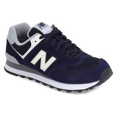 Men's New Balance '574 - Varsity' Sneaker ($48) ❤ liked on Polyvore featuring men's fashion, men's shoes, men's sneakers and shoes