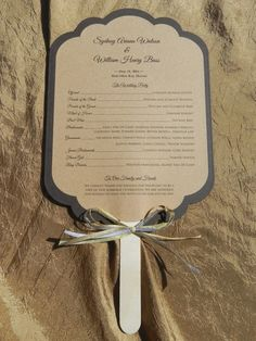 Scalloped Rectangle Rustic Wedding Program by WhiteGownInvitations, $2.00