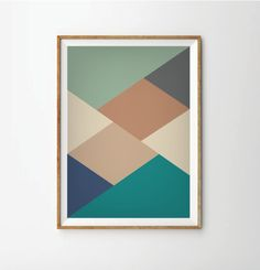 35.00$ - Abstract print poster, mid century print poster, retro print poster, geometric print poster, poster, posters