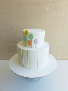 Beautiful #Modern #Balloons #Cake! So pretty! We want a slice! We love and had to share! Great #CakeDecorating!
