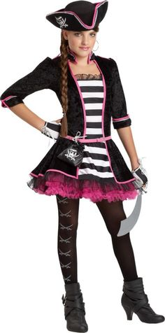 Girls High Seas Pirate Costume - Party City
