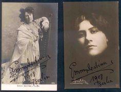 Obrázek č. 5. Dvě pohlednice s podpisy z působení  v  Dvorní opeře v Berlíně; angažmá tam měla do roku 1908. Cover, Books, Art, Art Background, Libros, Book, Kunst, Performing Arts, Book Illustrations