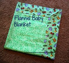 Super soft flannel baby blanket. With step-by-step instructions.