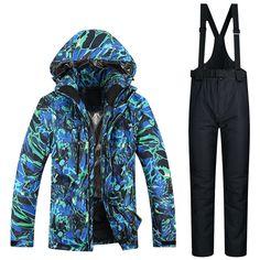 5e2d1672cf Outdoor Sports Men Ski Jacket And Pants Suit Set Windproof Waterproof Winter  Sportsjacket Trousers Snowboard Mountain