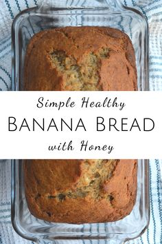 Simple Healthy Banana Bread Recipe with Honey — Wellness Blessing Banana Bread Recipe With Honey, Moist Banana Bread, Banana Bread Muffins, Chocolate Chip Banana Bread, Chocolate Chip Recipes, Easy Healthy Banana Bread, Low Calorie Banana Bread, Low Sugar Banana Bread, Banana Bread With Applesauce