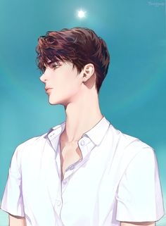 Anime W, Dark Anime Guys, Cool Anime Guys, Handsome Anime Guys, Cute Anime Boy, Digital Art Anime, Anime Drawings Sketches, Korean Art, Boy Art