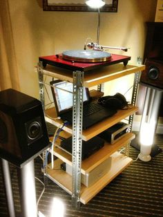 Inexpensive audio rack