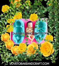 FIMO fairy from lovetobakeandcraft,com Polymer Clay Cake, Polymer Clay Fairy, Polymer Clay Figures, Polymer Clay Dolls, Tiny Dolls, Ooak Dolls, Baby Boy Cake Topper, Baby Mold, Cake Topper Tutorial
