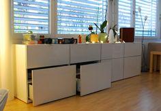Ikea hack Besta/Vattern: añade al cajón sin frente una puerta : x4duros.com