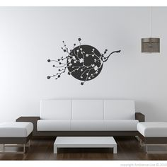These cerezo japonés flowers #wall #decals can give you ideas for decorating. #stickers