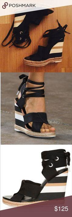 2de66cfa75ecd2 Topshop Unique folded strap wedge heels Great condition. Super cute!  Topshop Shoes Sandales Compensées