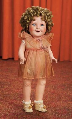 Curtain Call- The Collection of Billie Nelson: 468 Composition Character Doll Portraying Shirley Temple