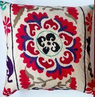 Vintage suzani pillow cover via Fabricadabra