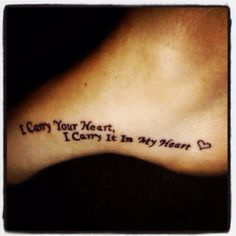 """but """"i carry your heart, i carry it in my heart"""" - maybe on the other side of our feet and a different font/design :) what do you think @Angelique Bishop @Maggie Cormiea"""