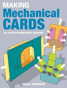 How to make pop up cards. Lessons to help you learn the basic mechanisms of pop up card construction. The best books about making all kinds of pop up cards and pop up books, sliceforms, mechanical cards, and origamic architecture pop ups. Kirigami, Paper Cards, Folded Cards, Diy Cards, Handmade Cards, Pop Up Karten, Karten Diy, Arte Pop Up, 3d Templates