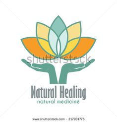 Hands holding a Lotus flower vector icon. Business sign template for Alternative Medicine, Yoga Club, Beauty Industry, Med Spa, Natural Cosmetics, Natural Healing, Acupuncture, Massage and Recreation. - stock vector