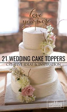 21 Creative Wedding Cake Topper Inspiration Ideas ❤ From little figurines to laser cut signs, be sure to add a touch of personality into your wedding cake topper design. See more: http://www.weddingforward.com/wedding-cake-topper-ideas-inspiration/ #weddingcaketoppers  #weddingcake #weddingtheme