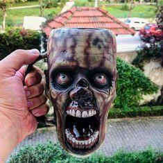Halloween Prop, Diy Halloween Decorations, Halloween Gifts, Halloween Ideas, Big Coffee Mugs, Mascaras Halloween, Horror Decor, Weird Gifts, Gothic Home Decor