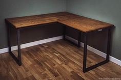 Diy Office Desk, Office Table Design, Home Office Setup, Home Office Space, Home Office Desks, Basement Home Office, Office Furniture, Bureau Design, Steel Dining Table