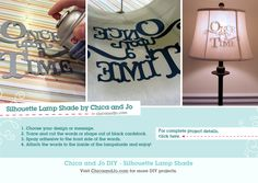 Cute idea...DIY quoting lampshade