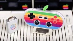 """This retro Apple game controller will even work with an Apple II Read more Technology News Here --> http://digitaltechnologynews.com Peripheral maker 8Bitdo is taking """"old-school"""" to a logical extreme by making a universal game controller that not only looks like Apple's old logo - down to the neon green leaf covering the charging port - but even works on your ancient Apple II computer.  The company's AP40 controller takes 8Bitdo's line of wireless gamepads and gives it a retro Apple…"""