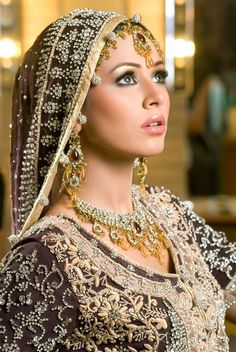 Beautiful Indian Bridal Make-Up ~ Fashion Trends | Styles | Tattoos!    Aline for Indian weddings