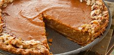 Almond Pumpkin Pie (use a gluten free pie crust) Pumpkin Dishes, Pumpkin Pie Recipes, Pumpkin Dessert, Pumpkin Foods, Just Desserts, Delicious Desserts, Dessert Recipes, Yummy Food, Cheesecakes