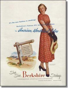 1948 vintage ad for Berkshire Stockings | eBay
