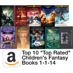 """Top Rated Children's Fantasy Books"" by kendra-patocki on Polyvore #readersadvisory"