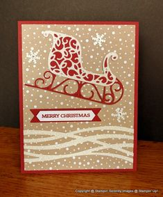 Snowy Santa's Sleigh! by avalnche19 - Cards and Paper Crafts at…