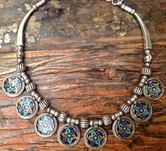 Sterling silver handcrafted necklace enamel art by ColorsOfEtnika, $299.00