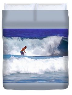 Duvet Covers - Between the Waves Duvet Cover by Pamela Walton