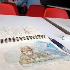 Есть дома нечего воды горячей нет брожу по кафешкам. Рисую исподтишка. Купил баночку для анализов чтобы акварель использовать. Изучаю два тома российского государства. Все это в качестве развлечения выходного дня. В кино ещё сходить надо и воскресенье будет прожито с культурной пользой. А ещё в спортивный зал надо заглянуть. Помыться.  #drawing #illustration #portrait #sketch #pencil #sketchbook #art #artwork #painting #eskiz #topcreator #портрет #рисунок #карандаш #набросок #эскиз
