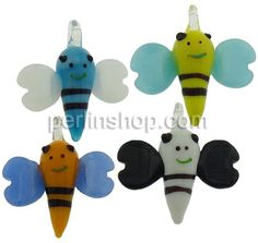Mode Lampwork Anhänger, Biene, gemischte Farben