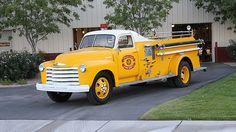 Vintage Trucks Muscle 1948 Chevrolet Fire Truck Dual Rear Wheels presented as lot at Las Vegas, NV 2015 - - Gm Trucks, Chevy Trucks, Fire Trucks, Ambulance, Classic Trucks, Classic Cars, Muscle Truck, Police, Fire Equipment