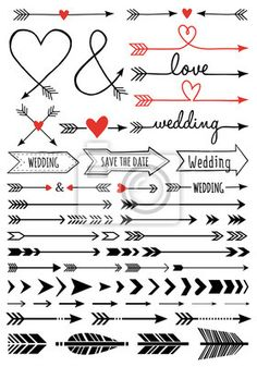 Buy Hand-drawn Wedding Arrows Set by amourfou on GraphicRiver. Hand-drawn wedding arrows, set of vector design elements AI EPS 8 and high resolution JPG pixel included Arrow Svg, Bullet Journal Inspiration, Vector Design, Type Design, Design Design, Graphic Design, Logo Design, Doodle Art, Bullet Journal