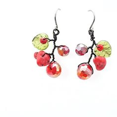 Wild Berry Earrings Handmade Earring van MariYunJewelry op Etsy