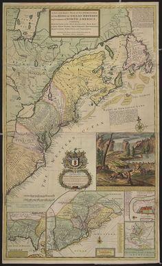 Cette carte de l'Amérique du Nord de Herman Moll (1711) pourrait être la première à illustrer les bureaux de poste. Bibliothèque et Archives Canada, Alexander E. MacDonald Canadiana (R11981), MIKAN: 3924682.