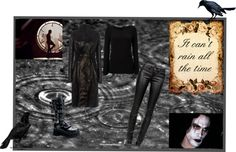 """The Crow"" by lady-grimilde ❤ liked on Polyvore"