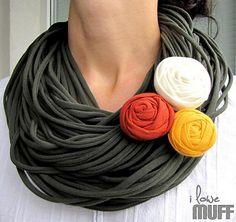 khaki spaghetti scarf