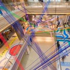100architects revived Shanghai's shopping mall with coloured stripes and...