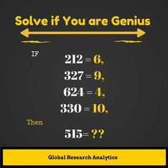 I say the answer is 3 =)) I agree I think 3 you take last two digits and divide by the digit😀 Math Riddles With Answers, Riddles To Solve, Brain Teasers Riddles, Brain Teasers With Answers, Really Hard Riddles, Lateral Thinking Puzzles, Teaching American History, Fun Math Games, Maths Puzzles