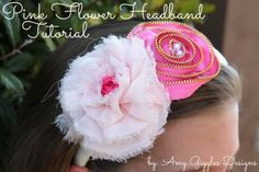 Pink Flower Headband Tutorial | Amy Giggles Designs