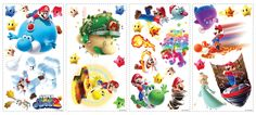 Popular Characters Mario Galaxy 2 Wall Decal