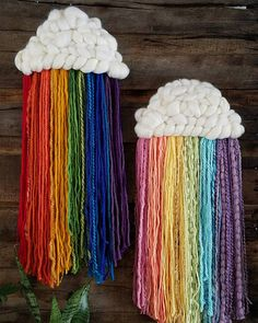 Made to order Rainbow Cloud fiber may differ from photo colors will be the same Rainbow cloud made from wool and other mixed blends measures 10 x 27 cloud measures 10 x 6 colors size can be customized May ship sooner Mothers Day Crafts For Kids, Summer Crafts For Kids, Kids Crafts, Diy And Crafts, Arts And Crafts, Toddler Crafts, Crafts With Yarn, Summer Camp Art, Stick Crafts