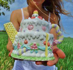 Cake Teapot. Birthday teapot. Novelty teapot. Birthday gift. by LunaYves on Etsy https://www.etsy.com/listing/233608267/cake-teapot-birthday-teapot-novelty